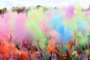 Weldmar's Colour Run Colour Throw