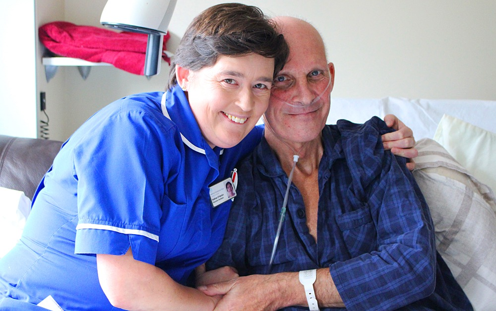 Nurse and Patient at Joseph Weld Hospice