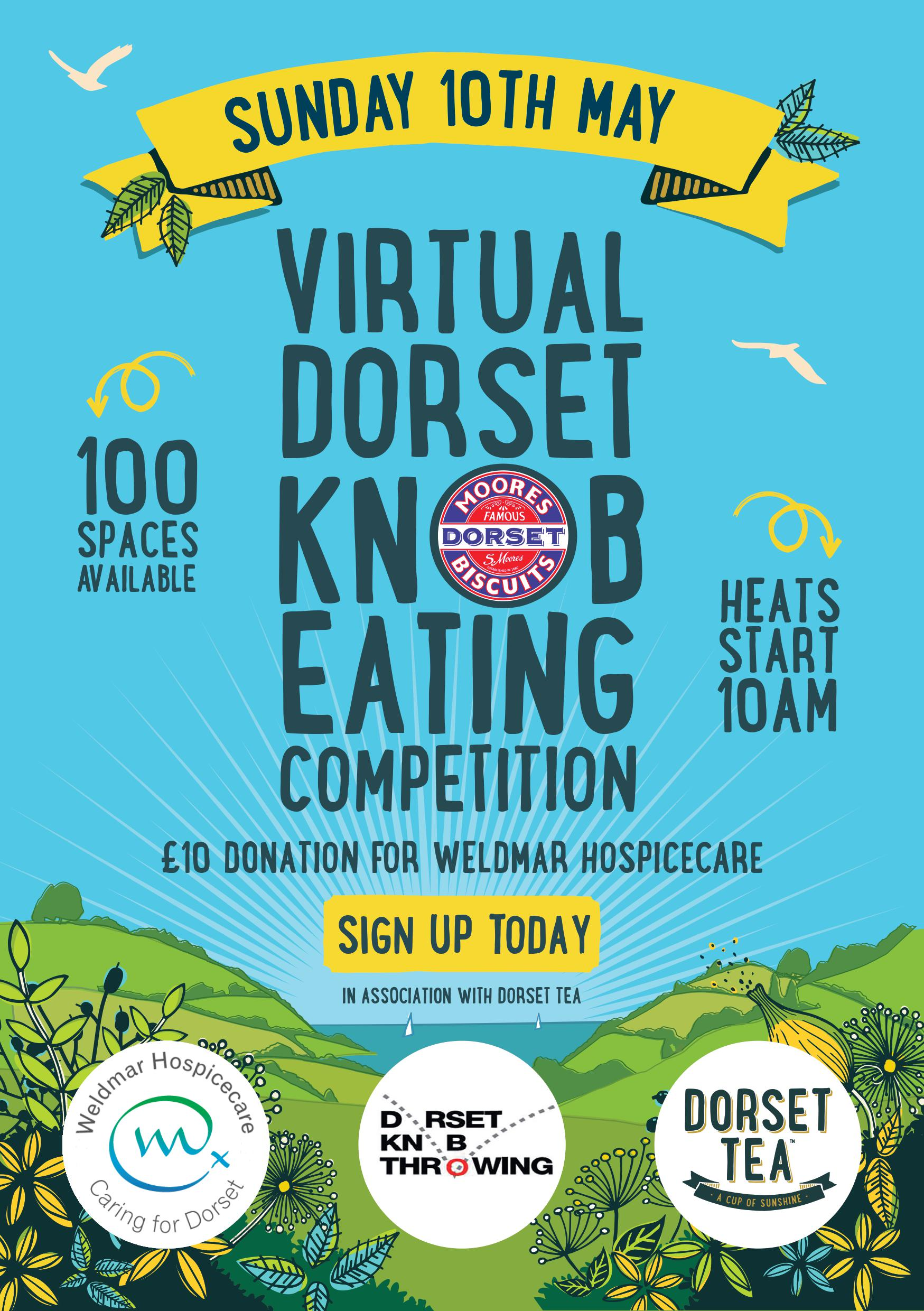 Dorset knob eating competition poster.